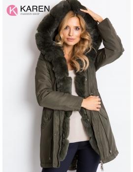 Dámska tmavozelená zimná bunda ONTARIO