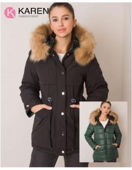 Dámska obojstranná zimná bunda HAYDEE čierna - zelená