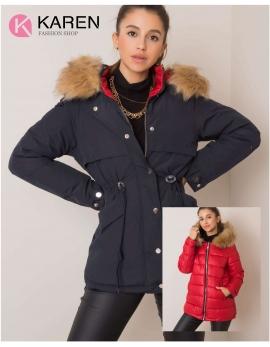 Dámska obojstranná zimná bunda HAYDEE modrá - červená