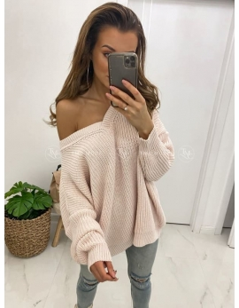 Dámsky biely sveter AVERY