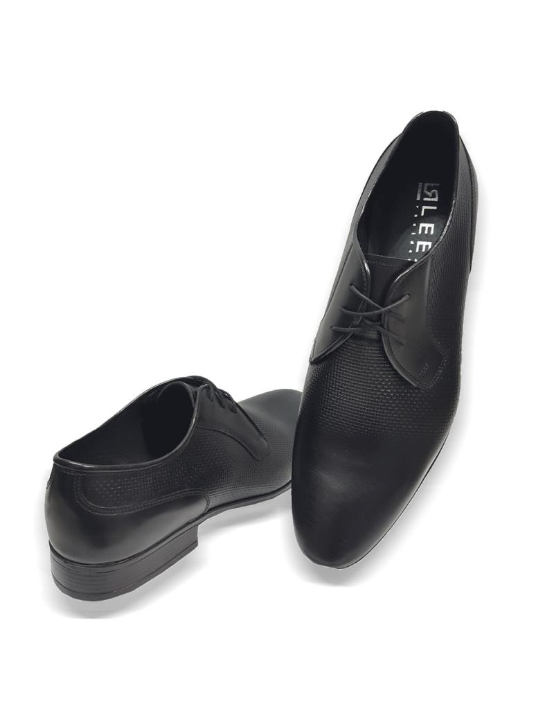 13cf1c2b1a ... Kožená čierna elegantná pánska obuv LEEX Resident ...