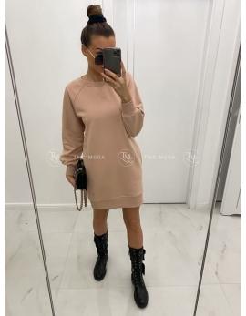 Dámske mikinové šaty CLASSY - béžové