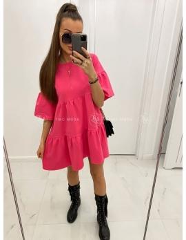 Dámske ružové šaty MEGI