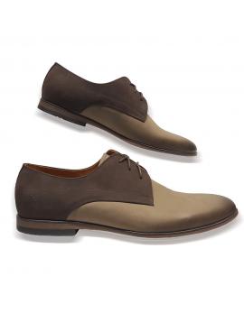 Kožená hnedé topánky