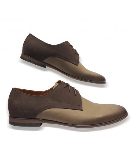 Kožená hneda vychadzková pánska obuv LEEX Resident