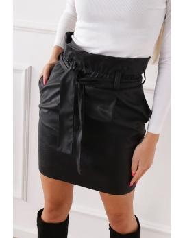 Dámska čierna kožená sukňa BG ROCK IT