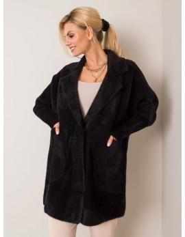 Dámsky čierny kabát alpaka CLASIC