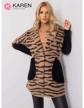 Dámsky hnedý kabát alpaka WILD 2