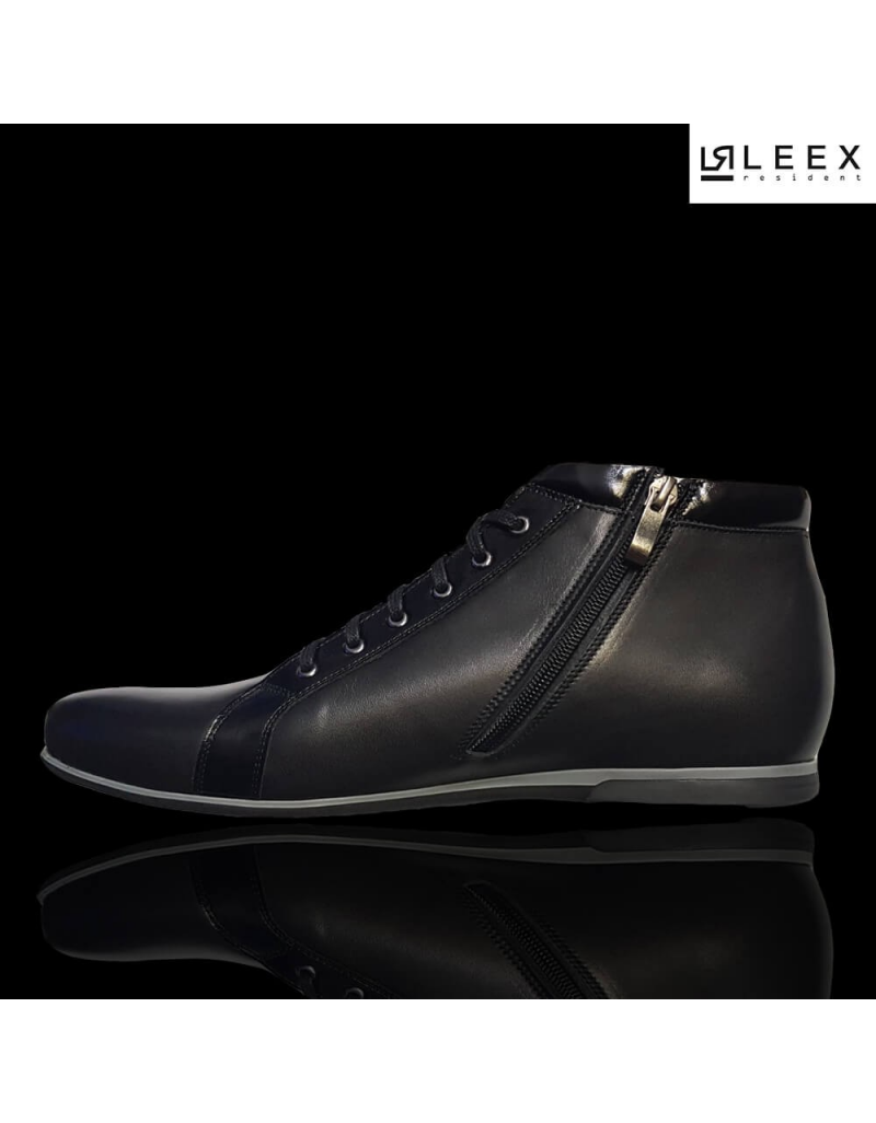 2f0bfdd4511e ... Leex Resident -pánske čierne zateplené kožené topánky ...