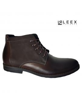 Pánske hnede kožené topánky Leex Resident
