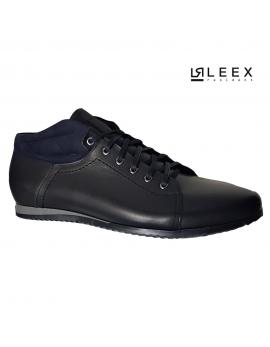 Pánske čierne kožené topánky Leex Resident