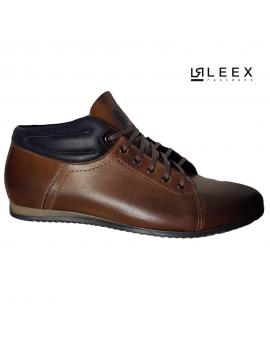 Pánske hnede kožene topánky od značky Leex
