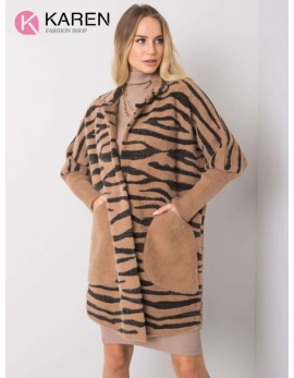 Dámsky hnedý kabát alpaka WILD