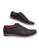 Kožená čierno-červená športová pánska obuv LEEX Resident