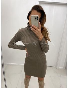 Hnedé pletené šaty CORNELIA