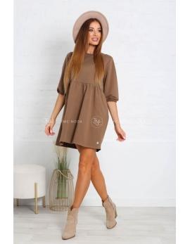 Dámske hnedé šaty MIRA