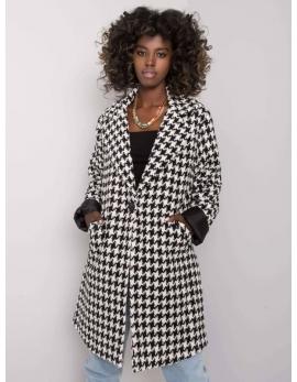 Čierno biely dámsky kabát AMIRAH