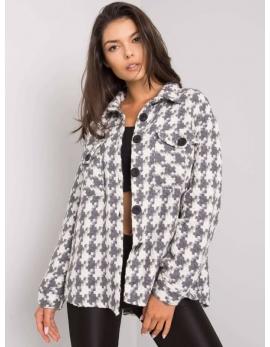 Sivo-biely košeľový kabátik SHANTICE