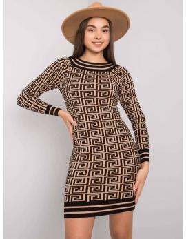 Dámske hnedé šaty BELLA