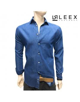 Pánska košeľa modrá-riflová