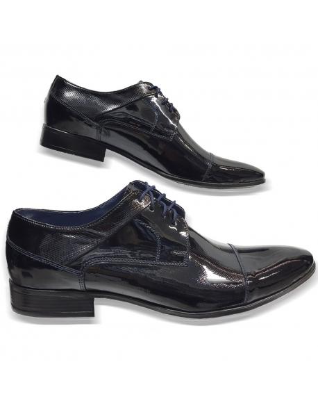 c8202d476 Kožená tmavo modrá elegantná pánska obuv LEEX Resident